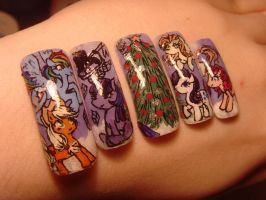 My little pony nail art by MesiaszCiszy