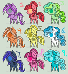 MLP Color Adopts Wave #2 by Sbscomics3098