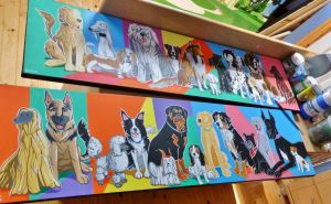 Colorful Canines by rickmac88