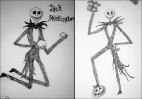 Jack Skellington scetches by Oblique-and-Mysitque