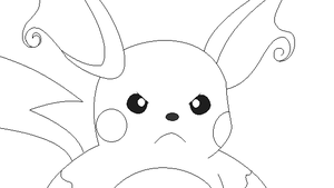 Raichu lineart 3 by michy123