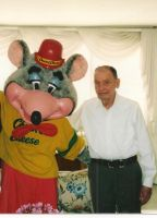 My Grandfather with Chuck E. Cheese by dth1971