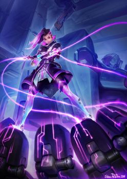 Blizzcon Sombra Keyart by NorseChowder