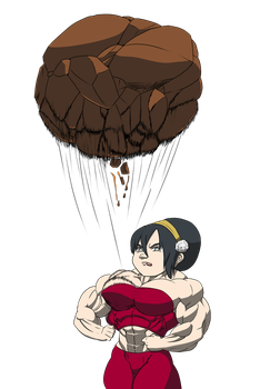 Toph's new technique by astaroth90