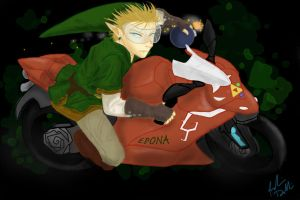 Link's Badass Epona Ducati by DoodleScout