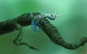 Invisible little monster Spitpaint by puky7