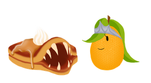 Pancake Monster and Kumquat Queen by Constelia