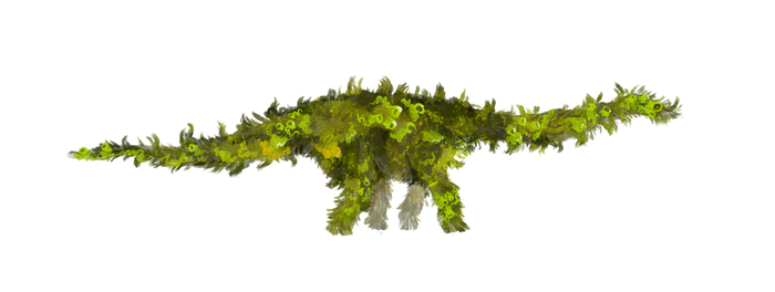Mossy Space Sauropod by whalewithlegs