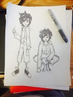 Hiro Sketches by cartoonation