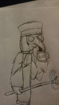 plaguly the plague docter by Th3Tur3GodMrbl3ach