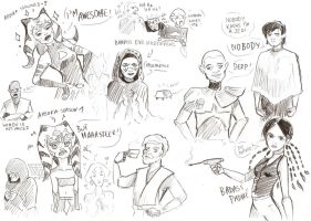 Stupid Clone Wars sketchdump by Krepf