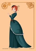 Pinup serie : Steampunk Lady by Val-eithel