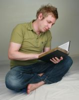 Aaron Reading I by IQuitCountingStock