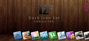 12 Degree Dock Icon Set by BloodyMoogle