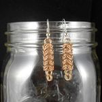 Ear267 Bronze Roundmaille Earrings by Tarliman