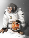 The monkey that has to go to space by blurred-colour