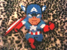 Perler Captain America by PandaElle