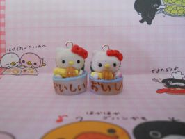 Hello Kitty in a Ramen Bowl charms by misoandramen