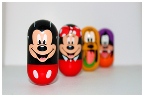 Disney Weebles by morphinetears36