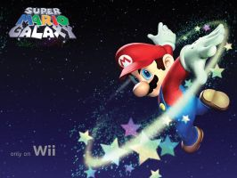 Super Mario Galaxy by apeinsink