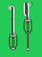 Grendal's Bane Keyblade by storykeeper03