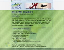 ArkFX Webdesign Concept by ultimate888