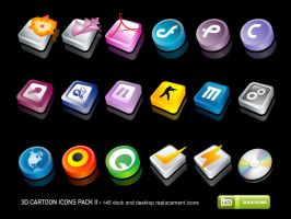 3D Cartoon Icons Pack II by deleket