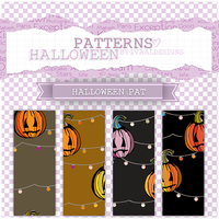+Halloween .PAT Patterns by iVaal-Designs