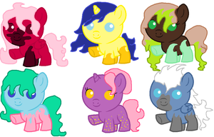 Foal Adoptables [[POINTS ONLY]] by TheRealRiiver
