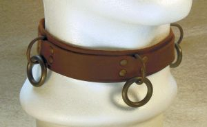 Leather collar by Syrech