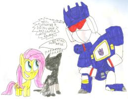 Fluttershy Looks After Ravage 02 by SithVampireMaster27