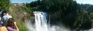 Busy Snoqualmie Falls by pokemontrainerjay