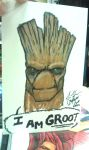 I AM GROOT! con sketch by Cadre