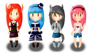 Brookview - Lineless Chibis~ by Vaderrojo