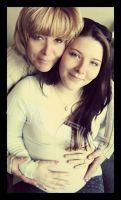 Mother,daughter and baby bump by lawlerbum