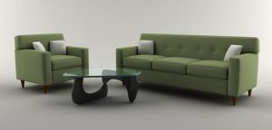Couch and Coffee Table by ryanrybot