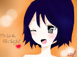 My first Try On Paint Tool Sai by AskKuroTsuchID