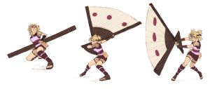 Temari action sketches by Jazzie560