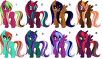 Wet-Maned Mare Adopts ~ 10 Points Each ~ *OPEN* by Adopting-Angels