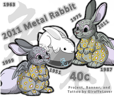 Metal Rabbit Banner by tropical395
