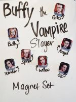 Buffy the Vampire Slayer Magnet Set by TheInklingGirl