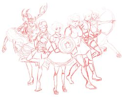 Magical Girl Avengers Animation Thing by VanityElric