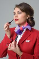 Virgin airlines Stewardess by Lord-Storm