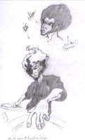 Afro sketch 001 by oldxer
