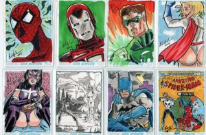 Pittsburgh Con Sketchcards by ErikHodson