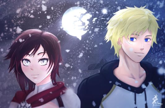 Ruby and Jaune by Spack3rz
