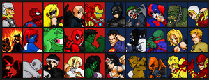 Marvel Vs DC Universe: Zero EX Fighter Select by jc013