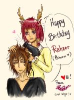 [HBD Rahzer!] We're going to be late!! by ZeRoyaleCookie