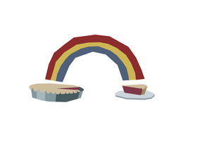 RAINBOW PIE by Jon-Wood