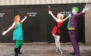 Poison Ivy vs Harley Quinn and Joker 2 ACen 2015 by Teddy-sol